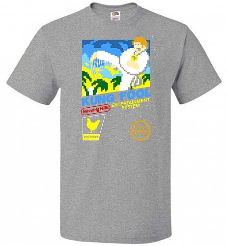 Kung Fool Nintendo Cover Parody Adult Unisex T-Shirt Pop Culture Graphic Tee (3XL/Ath