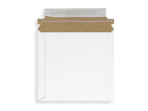 """50 CD DVD Mailer 6"""" x 6"""" White Cardboard Protector Sealable Flap"""