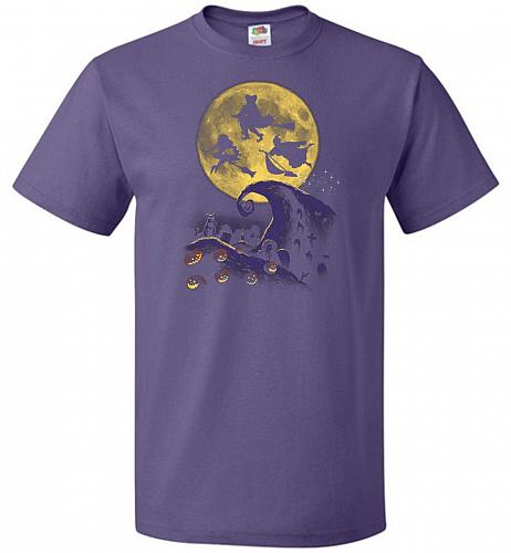 Hocus Pocus Halloween Unisex T-Shirt Pop Culture Graphic Tee (S/Purple) Humor Funny N