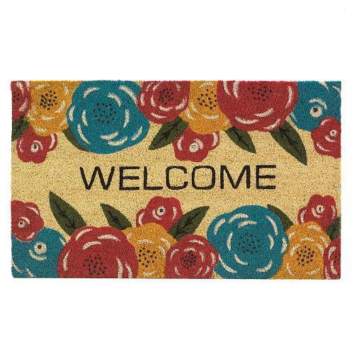 *18140U - Floral Welcome Mat