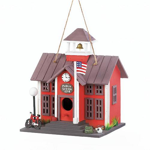 *18076U - Schoolhouse Birdhouse