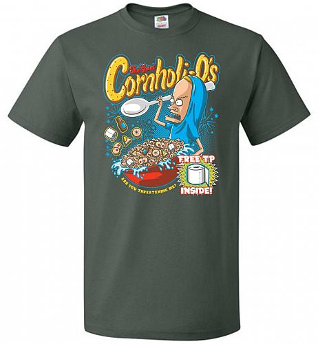 Cornholios Unisex T-Shirt Pop Culture Graphic Tee (4XL/Forest Green) Humor Funny Nerd
