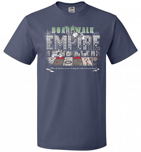 Boardwalk Empire Unisex T-Shirt Pop Culture Graphic Tee (2XL/Denim) Humor Funny Nerdy