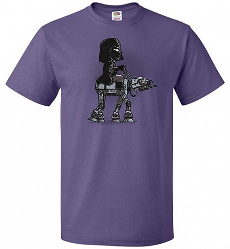 Dark Walker Unisex T-Shirt Pop Culture Graphic Tee (L/Purple) Humor Funny Nerdy Geeky