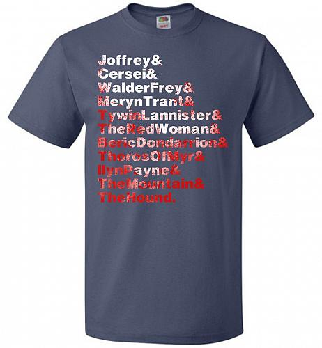 Game Of Thrones Inspired Arya's List Adult Unisex T-Shirt Pop Culture Graphic Tee (S/