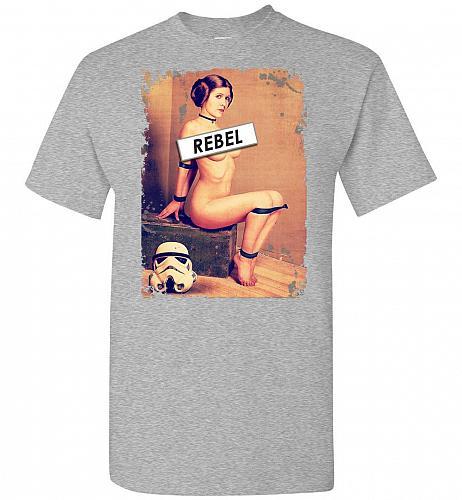 Princess Leia Rebel Unisex T-Shirt Pop Culture Graphic Tee (M/Sports Grey) Humor Funn
