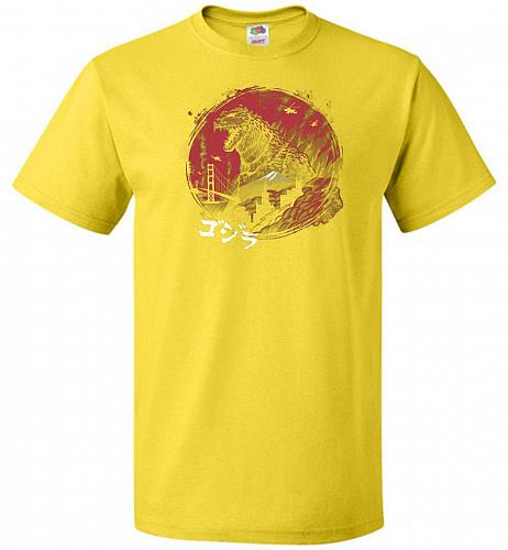 Zillageddon Unisex T-Shirt Pop Culture Graphic Tee (5XL/Yellow) Humor Funny Nerdy Gee