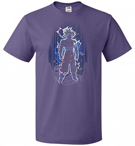 Shadow Of The Ultra Instinct Unisex T-Shirt Pop Culture Graphic Tee (4XL/Purple) Humo