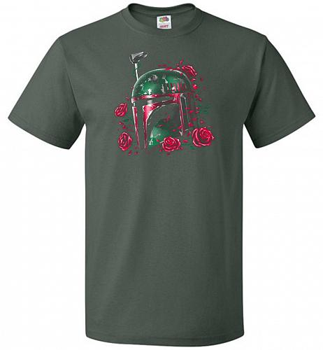 Phantom Of The Empire Fett Unisex T-Shirt Pop Culture Graphic Tee (XL/Forest Green) H