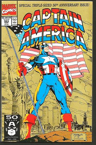CAPTAIN AMERICA #383 Marvel Comics 1st Print Gruenwald 1983 Lee Cover Ann. Size