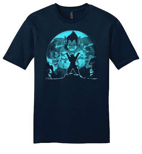 Saiyan Sized Secret Youth Unisex T-Shirt Pop Culture Graphic Tee (XS/New Navy) Humor