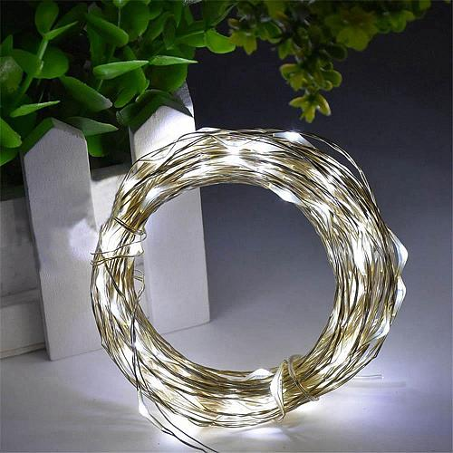 :11029U - 100 LED Fairy Lights Silver Wire USB Powered Cool White