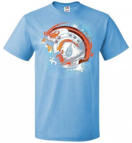Born To Rebel Unisex T-Shirt Pop Culture Graphic Tee (XL/Aquatic Blue) Humor Funny Ne