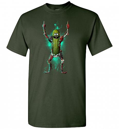 It's Pickle Rick! Unisex T-Shirt Pop Culture Graphic Tee (S/Forest Green) Humor Funny