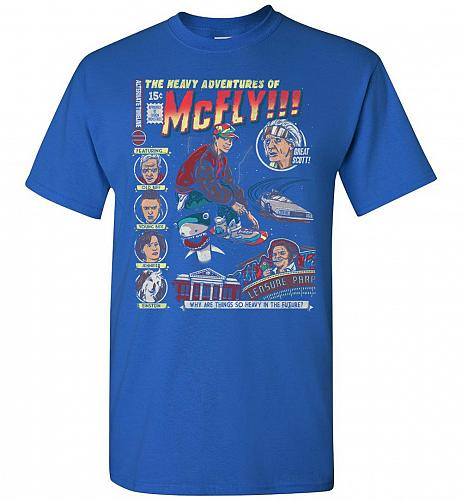 Heavy Adventures Of McFly! Unisex T-Shirt Pop Culture Graphic Tee (L/Royal) Humor Fun