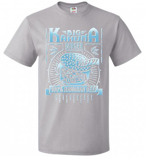 Big Kahuna Burger Adult Unisex T-Shirt Pop Culture Graphic Tee (M/Silver) Humor Funny