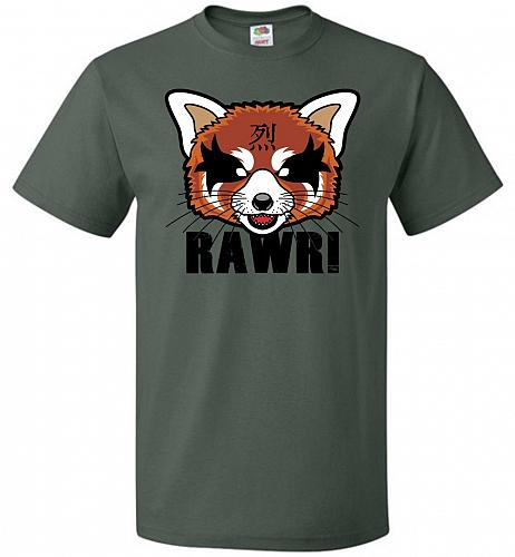 Aggressive Growl Unisex T-Shirt Pop Culture Graphic Tee (S/Forest Green) Humor Funny