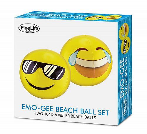 :10701U - Emogee Shades & Tears Yellow Beach Ball Set
