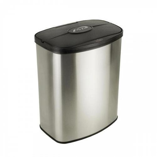 Nine Stars DZT-8-1 Infrared Motion Sensor Lid Trash Can Stainless Steel 2.1 Gal