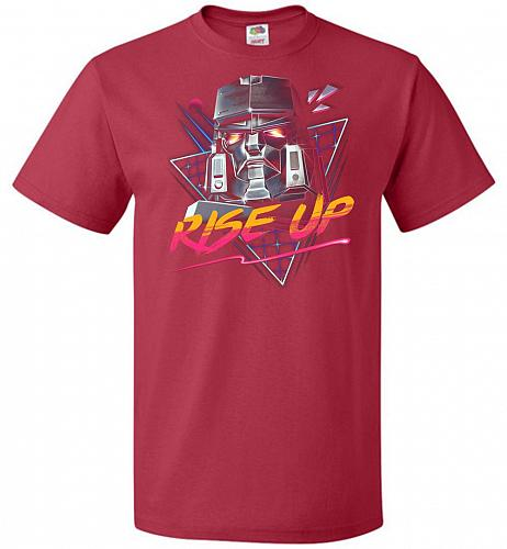 Rise Up Unisex T-Shirt Pop Culture Graphic Tee (5XL/True Red) Humor Funny Nerdy Geeky