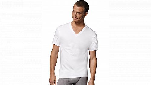 6-pack Hanes Fresh IQ Cotton Modal V-Neck #7777M3