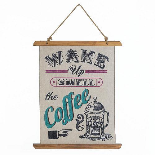 *18390U - Wake Up Smell The Coffee Linen Wall Art