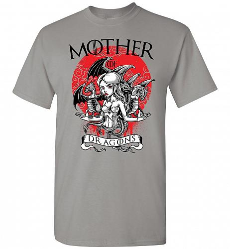 Mother of Dragons Unisex T-Shirt Pop Culture Graphic Tee (S/Gravel) Humor Funny Nerdy