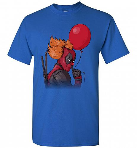 IT is Deadpool Unisex T-Shirt Pop Culture Graphic Tee (4XL/Royal) Humor Funny Nerdy G