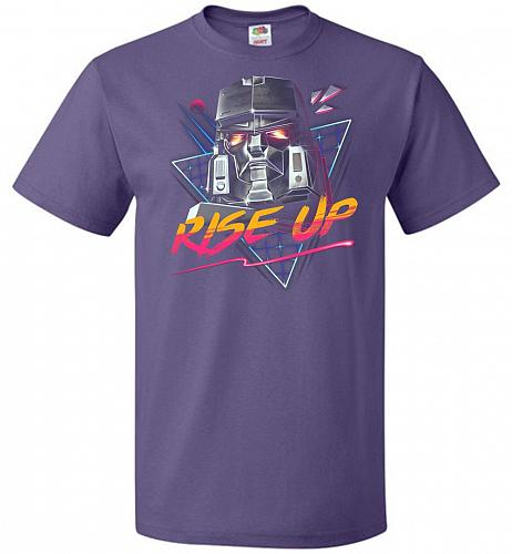 Rise Up Unisex T-Shirt Pop Culture Graphic Tee (S/Purple) Humor Funny Nerdy Geeky Shi