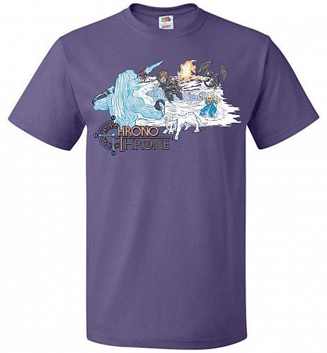Chrono Throne Unisex T-Shirt Pop Culture Graphic Tee (4XL/Purple) Humor Funny Nerdy G