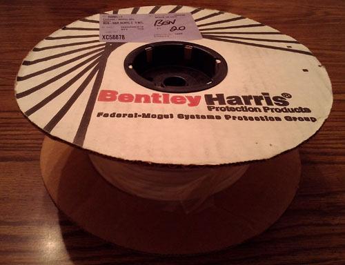 Reel of 250': Bentley Harris Acrylic Resin Coated Fiberglass Sleeving : FREE Shipping