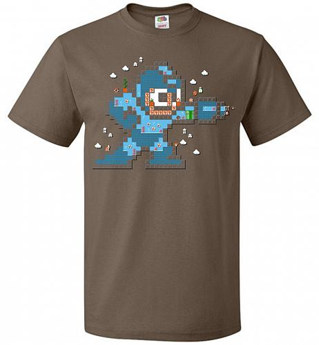 Mega Maker Unisex T-Shirt Pop Culture Graphic Tee (L/Chocolate) Humor Funny Nerdy Gee