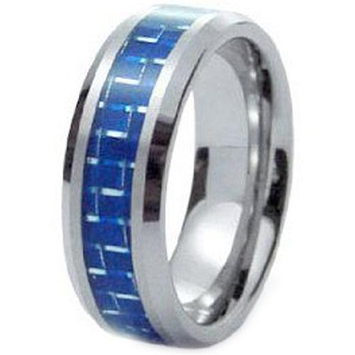 coi Jewelry Tungsten Carbide Wedding Band Ring With Carbon Fiber