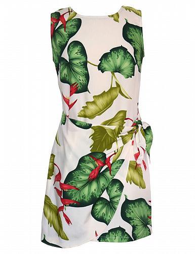 Ladies Short Rayon Sarong Dress Kamuela Treasure #RJ-W152O-EO Size: MED