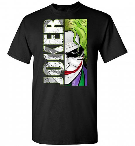 Joker Unisex T-Shirt Pop Culture Graphic Tee (M/Black) Humor Funny Nerdy Geeky Shirt