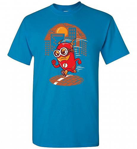 Flash Minion Unisex T-Shirt Pop Culture Graphic Tee (5XL/Sapphire) Humor Funny Nerdy