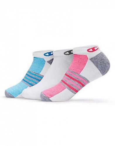 6 Pair Champion Women's No-Show Training Socks #CH648
