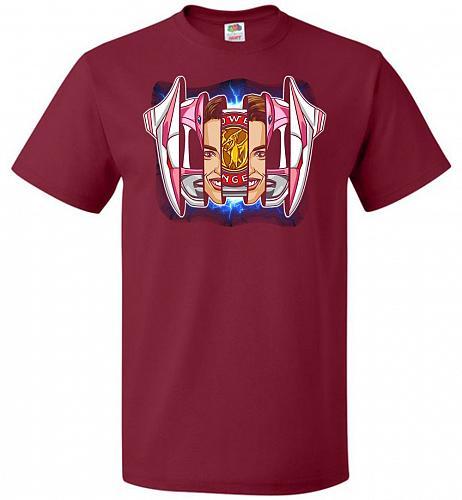 Pink Ranger Unisex T-Shirt Pop Culture Graphic Tee (6XL/Cardinal) Humor Funny Nerdy G