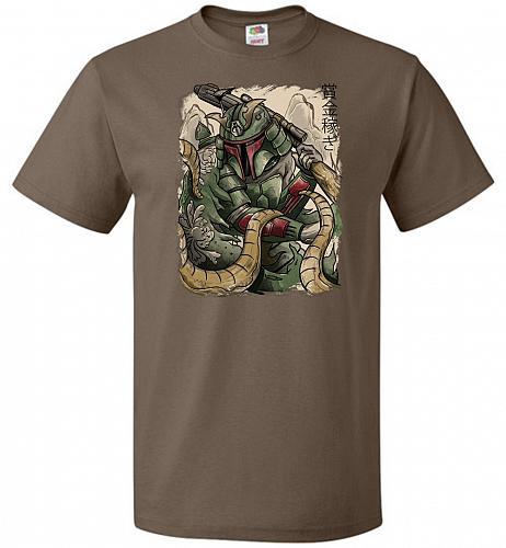 Samurai Hunter Unisex T-Shirt Pop Culture Graphic Tee (2XL/Chocolate) Humor Funny Ner