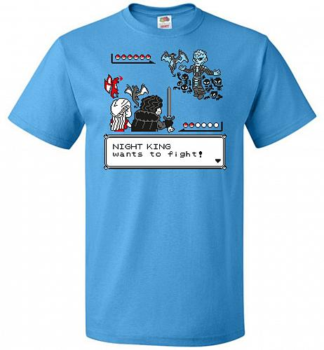 Throne Battle 2 Unisex T-Shirt Pop Culture Graphic Tee (4XL/Pacific Blue) Humor Funny