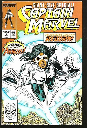 Captain Marvel #1 Giant Sized Special COMICS 1989 Reborn from Avengers 52 Pages