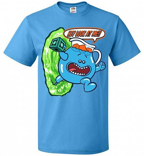Meseeks Man Unisex T-Shirt Pop Culture Graphic Tee (S/Pacific Blue) Humor Funny Nerdy