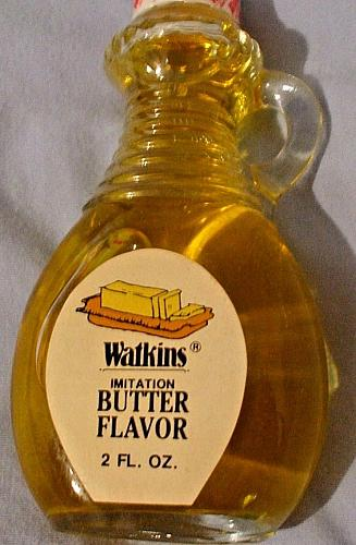 New Vintage Watkins Butter Extract 2 Ounce Glass Bottle with Handle NOS