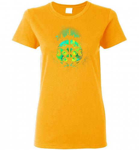 Face Of Rapture Unisex T-Shirt Pop Culture Graphic Tee (XL/Gold) Humor Funny Nerdy Ge