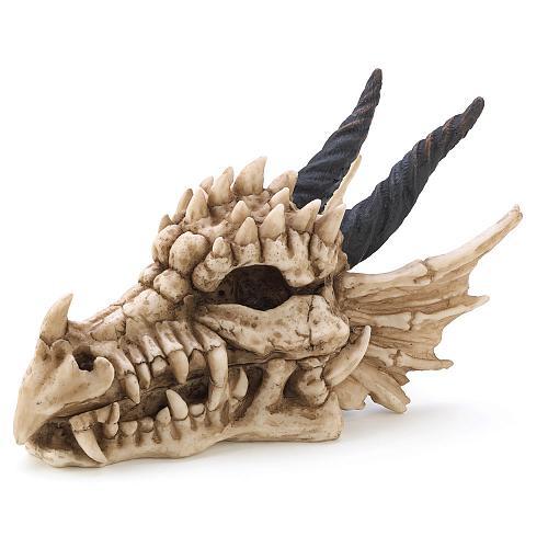 13240U - Dragon Head Skull Figure Treasure Box