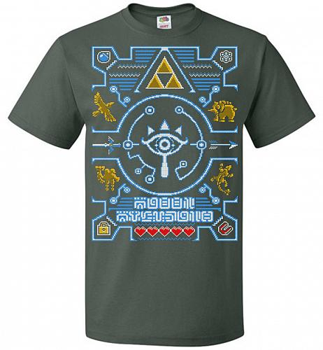 Legend Of Zelda Ugly Sweater Design Adult Unisex T-Shirt Pop Culture Graphic Tee (M/F