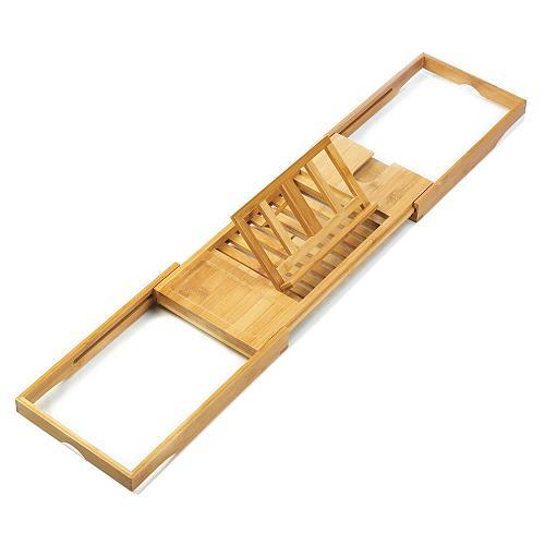 *18323U - Bamboo Book Magazine Holder Bath Caddy