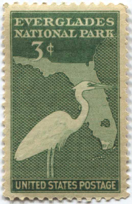 1947 3c Everglades National Park Commemoratives Postage