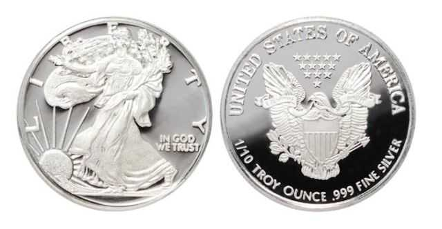 American Silver Eagle Bullion Round 1 10 Oz 999 Pure