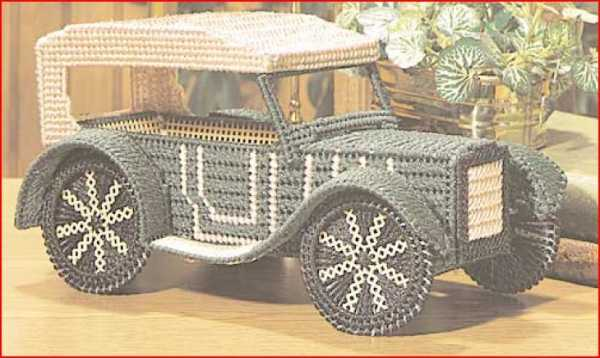 Classic Car Trinket Box Plastic Canvas Pdf Pattern Digital